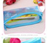 Saco bonito do lápis do PVC da cor dos doces do projeto novo