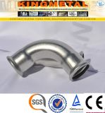 Dvgw 304 штуцера давления нержавеющей стали печатает локоть на машинке 45 градусов