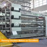 Слой ярусов рамки 5 h конструкции Tianrui автоматический поднимая клетку цыпленка