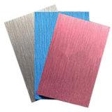 Почищенный щеткой лист покрытия цвета алюминиевый для панели сота