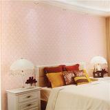 Carta da parati decorativa classica del PVC di colore rosa di prezzi non Xerox del fornitore della Cina