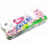 Le papier de toilette pour les moyennes des sacs de groupage Rouleau de papier toilette Machine d'emballage