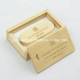 Поворотный деревянные 2.0 USB флэш-накопитель USB с логотипом и деревянный ящик пакета