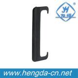 Yh9470 Maçaneta de porta de plástico de plástico preto ABS de alta qualidade