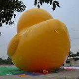 広告のための膨脹可能で黄色いゴム製アヒル