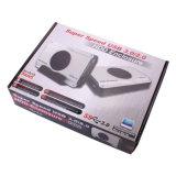 Hochgeschwindigkeits-USB3.0 zu Kühlventilator des SATA HDD GehäuseBuilt-in8cm