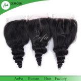 100% Brasilianer-Haar-Menschenhaar-Spitze-Schliessen mit 4*4