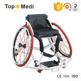 Cadeira de rodas manual do alumínio do esporte de Basketall da parte alta