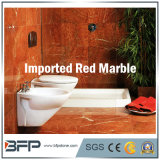 Красная мраморный плитка стены для дома/виллы/фасада резиденции/гостиницы & предпосылки & ванной комнаты TV окружать
