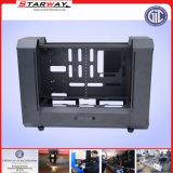 Metal de folha elétrico personalizado do cerco do indicador do aço inoxidável