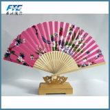 Le bambou chaud nervure le ventilateur pliable de main de configuration de fleurs de cerise