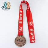 Подгоняйте медаль чемпиона логоса звезды бронзы отливки сплава гуляя