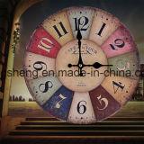"""Nueva 12 """"colorido reloj de pared de madera de estilo antiguo Francia París"""