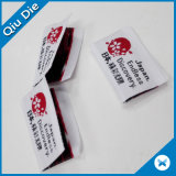 """1 da """" etiqueta de tipo dobrada do vestido da etiqueta de matéria têxtil altura lado vermelho para vestir-se com símbolo de Japão"""