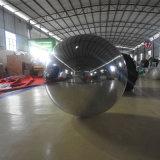Nouveau cycle de la publicité gonflable Silver boule miroir