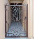 Простой Гарден Грилл передней дверцы Вилла Въездные ворота из кованого железа