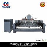 Ranurador de madera rotatorio de múltiples funciones Vct-2512r-8h de la maquinaria de carpintería 3D del CNC