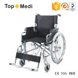 Handicapped Peopleのための熱いSale Manual Steel Folding Wheelchair