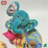 Elefante de gato Suporte de pescoço de bebê Almofada de pelúcia macia de brinquedo