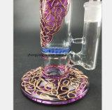 Pipe de fumage en verre de configuration de tabac cellulaire bleu pourpré de filtre