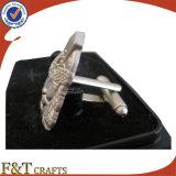 Alta qualità Plating Pearl Nickel Zinc Alloy 3D Metal Cufflink/Cufflink Shirts/Cufflink Manufacturer