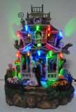 """Camera del fantasma del LED della decorazione 6 di Halloween della resina """" con 5 indicatori luminosi del LED"""