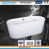Bañera independiente de acrílico de la calidad del borde redondo inconsútil (WTM-02507)