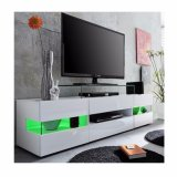 Weißer hoher Glanz LED Fernsehapparat-Geräten-Schrank-Standplatz