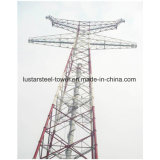 Высоковольтная передающая линия стальная башня силы Поляк
