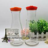 Breiter Schrauben-Mund-Glasflasche für Getränk und Milch