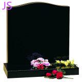 Qualidade Ultra Elevada em granito preto puro Headstone Sem corantes azóicos