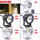 Kühler warmer Unterwasserscheinwerfer Weiß RGB-10W 16 Farben-LED