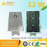 LEDの工場販売法の井戸モノラル太陽電池パネルが付いているオールインワン太陽LEDの街灯