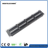 Panel de conexiones de red de 2U de 48 puertos UTP CAT6 Patch Panel