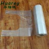 Claro Pehd transparente de HDPE / LDPE Vest transportadora, frutas, plástico, T-shirt Bag no rolo de alimentação