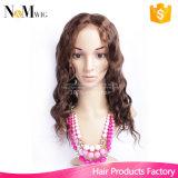 Alibaba peruca de moda nova Indian Remy peruca de cabelo humano de renda integral / peruca de cabelo humano dianteira de renda para afro-americanos, cor # 4
