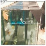 14 mm Vidro flutuante claro com Ce para piscina Esgrima com L Frame