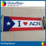 Bandiera tenuta in mano stampata di Scrolling (GHSB-L)