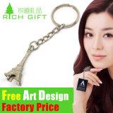 La fabbrica Metal/PVC/Leather su ordinazione segna l'anello portachiavi con lettere multifunzionale per il regalo