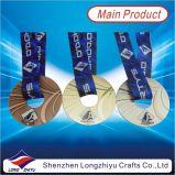 2016 الصين عالة أنبوب حلقيّ شكل أولمبيّ معدن وسام مع وشاح