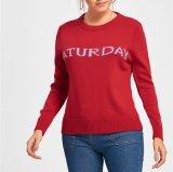 Heißer Verkaufs-Samstag-Strickjacke-Pullover für Frauen Wholesale rote Farbe China