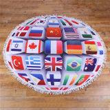 ワールドカッププリントMicrofiberの円形のビーチタオル