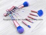 escovas da composição do pó da fundação do jogo de escovas da composição do Glitter 7PCS