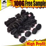 Afrouxar barato extensões malaias do cabelo humano da onda