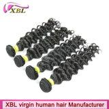 Weave 100% malaio do cabelo humano de Remy do Virgin
