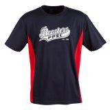 Gestempelde Hoge Prestaties die de Geschikte T-shirt van het Thuiswerk van het Netwerk Cooldry opleiden