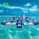 O Parque Aquático Aqua insuflável Jogos Flutuante Brinquedos de Água