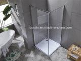 Складные душ полка с 8мм очистить стекло
