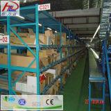 Il magazzino attraversa il racking di rotolamento