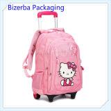 Les enfants mignon personnalisée Hello Kitty Cartoon Trolley sac à dos Sac d'école
